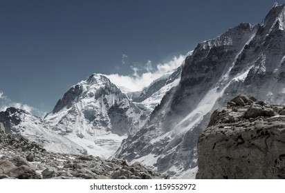 Scenic view of mountains, Kanchenjunga Region, Himalayas, Nepal.