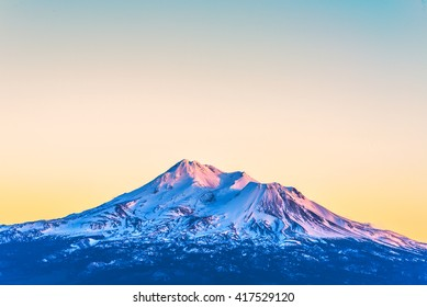 scenic view of mt Shesta when sunset in California,usa.