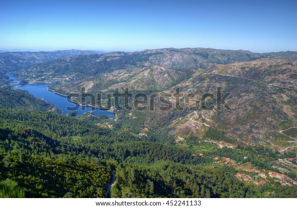 Scenic view of National Park of Peneda Geres in Portugal