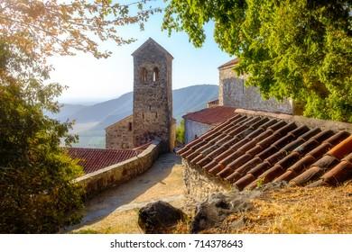 Scenic view of Nekresi monastery in dreamy sunlight, Country of Georgia