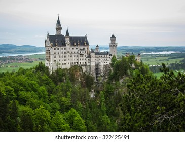 Scenic view of Neuschwanstein Castle in Bavaria, Germany