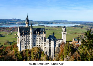 Scenic View of Neuschwanstein Castle (Schloss), Fussen, Germany