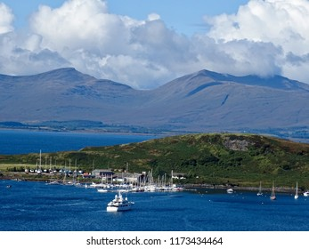 Scenic view of Oban and Mull, Scotland