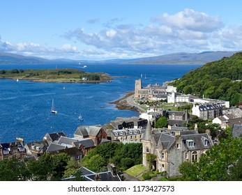 Scenic view of Oban, Scotland