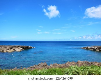 Scenic view of ocean at North Shore, Oahu, Hawaii
