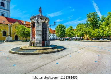 Scenic view at old historical architecture in Karlovac city, Croatia Europe. / Selective focus.
