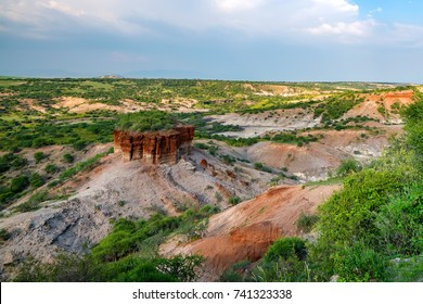 Scenic view of Olduvai Gorge