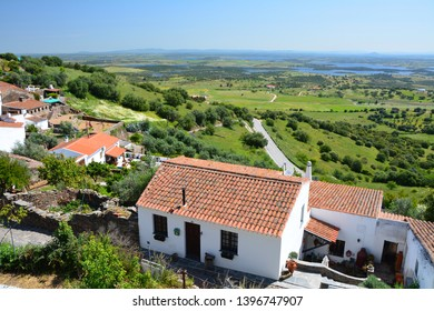 Scenic view on Alentejo region in Portugal from Monsaraz village.