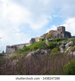 scenic view on ancient castle ruins, Sirok, Hungary