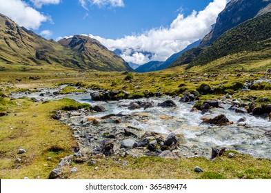 Scenic view on the Salkantay trek