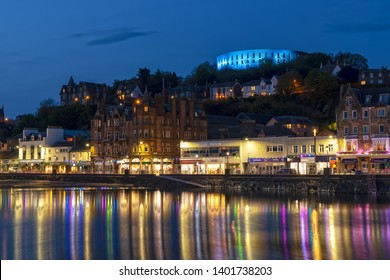 Scenic View over Oban in Scotland at Night