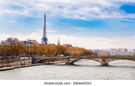 Scenic view over Seine river in Paris