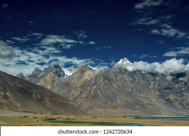 Scenic view of Padum Valley, Kargil district, Ladakh region, India.