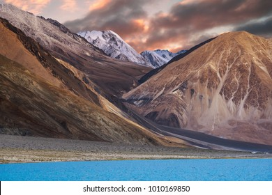 Scenic view at Pangong Tso, Ladakh