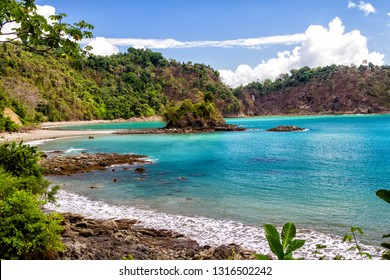 Scenic view of a paradise on earth - Manuel Antonio National Park in Costa Rica, Central America.