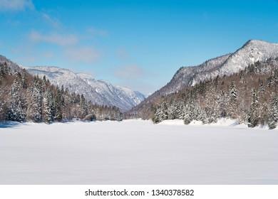 scenic view from Parc National de la Jacques-Cartier in Quebec