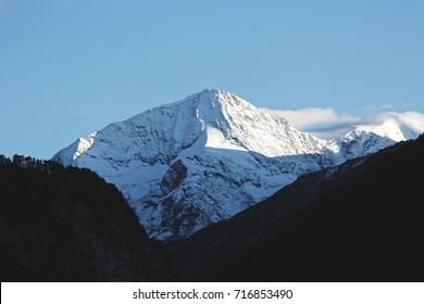 Scenic view of peak of Arolla in the Swiss Alps