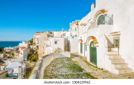 Scenic view of Peschici, Foggia Province, Puglia, Italy.