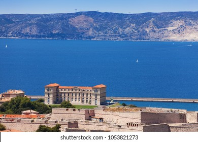 Scenic view of Pharo palace at Old Port, Marseille