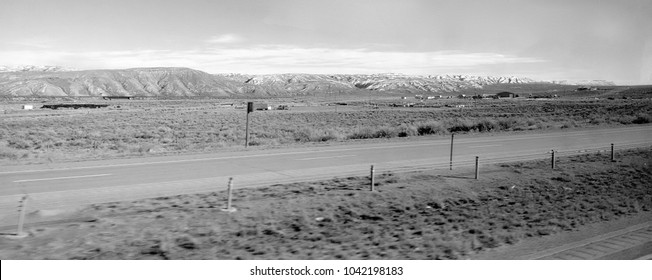 Scenic view of a plain somewhere in Wyoming