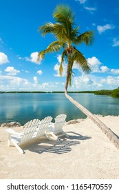 Scenic view of the popular Florida Keys along the bay.