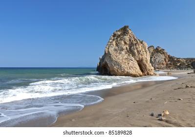Scenic view of 'Potistika' beach at Pelion in Greece