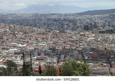scenic view of Quito, Ecuador
