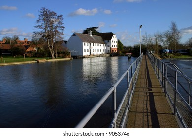 Scenic view of the river Thames at Hambleden Lock Buckinghamshire England