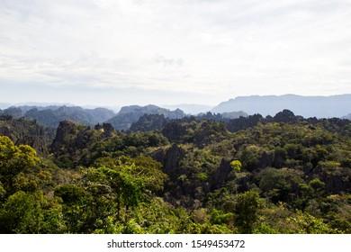 Scenic View of Rock Mountain on the way to Lak 20, Khamkert, Bolikhamxay province, Laos