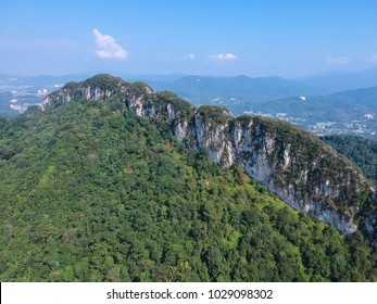 A Scenic view of Rocky Hill surrounded by forest outskirt of Kuala lumpur City. It is a legendary place for nature hiking