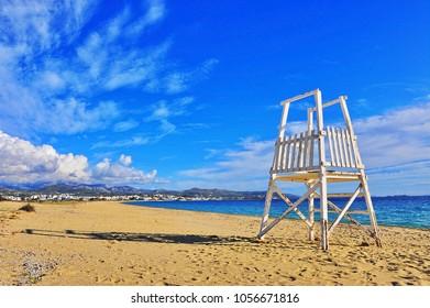 Scenic view of Saint Prokopios beach, Naxos island, Cyclades, Greece