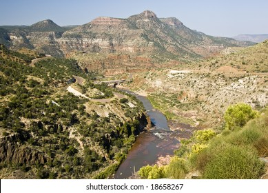 scenic view of the Salt River Canyon in Arizona
