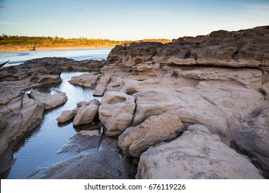 A scenic view of Sam Phan Bok, Grand Canyon of Mae Khong River, Ubon Ratchathani, Thailand