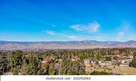 Scenic View of The San Bernardino Mountains With Arrowhead Landmark From Redlands, California