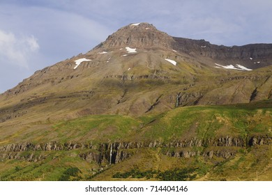 Scenic view of Seydisfjordur on East Iceland