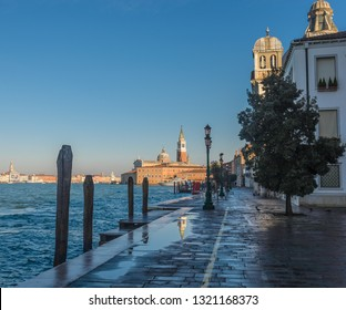 Scenic view of St George Church as seen at from Giudecca  Island Venice, Italy.
