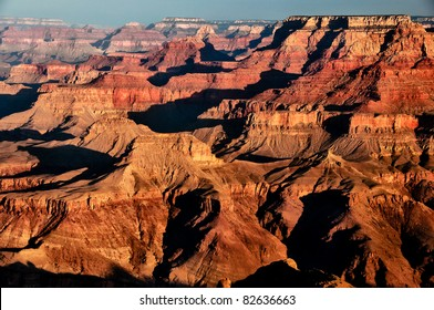 Scenic view of sunrise in Grand Canyon national park, Arizona, USA