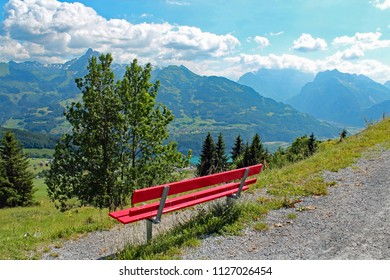 scenic view of the Swiss Alps in Amden