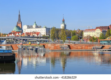 A scenic view of the Szczecin city in Poland