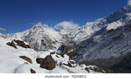 scenic view of Toubkal mountains, Morocco