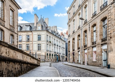 Scenic view of the town of Rennes, the capital of French Brittany