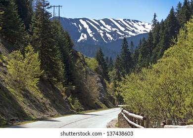 Scenic view of Tzoumerka mountains at Krania area of Epirus in Greece