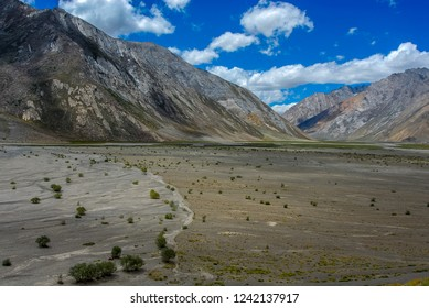 Scenic view of Upper Suru Valley at Rangdum village, Kargil district, Ladakh region, India.
