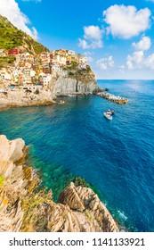 Scenic view of Vernazza, Cinque Terre, Italy
