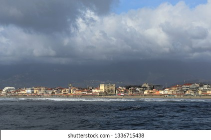scenic view of Viareggio town along the Versilia coastline on a winter day