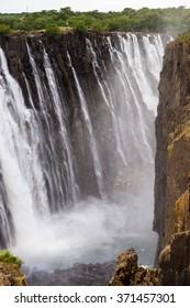 Scenic view of the Victoria Falls, Zambezi River, Zimbabwe and Zambia