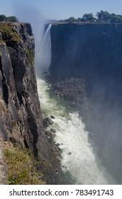 Scenic view of Victoria Falls in Zimbabwe