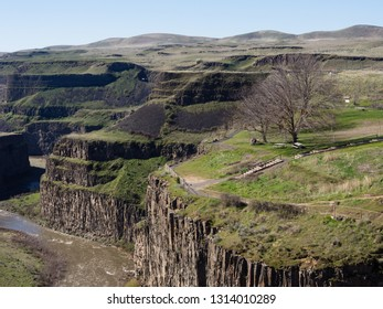 Scenic viewpoint at Palouse Falls State Park, Washington state, USA
