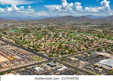 Scenic views from above in east Mesa, Arizona