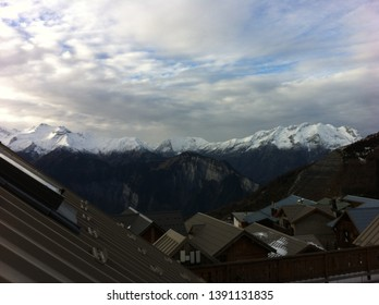 Scenic views in Alpe d'Huez, a ski resort in the French Alps